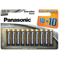 Panasonic AA  Batteries 10 + 10 Free