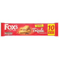 Fox's Triple Layered Biscuit Bar 10pk