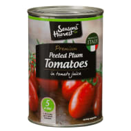 Seasons Harvest Premium Peeled Plum Tomatoes 400g