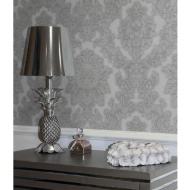 Arthouse Vicenza Grey Damask Wallpaper