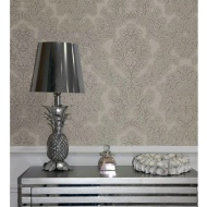 Arthouse Vicenza Damask Wallpaper - Taupe