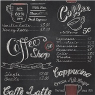 Rasch Coffee Shop Wallpaper - Black