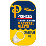 Princes Mackerel Fillets in Sunflower Oil 125g
