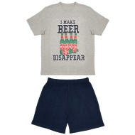 Mens Short Pyjamas - I Make Beer Disappear