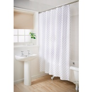 Geo Shower Curtain - Natural Heart