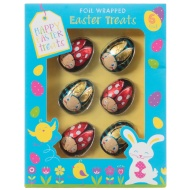 Foil Wrapped Chocolate Easter Ladybird Treats 6pk