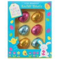 Foil Wrapped Chocolate Easter Eggs 6pk