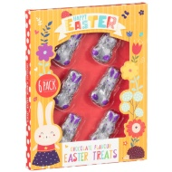 Foil Wrapped Chocolate Easter Bunnies Treats 6pk