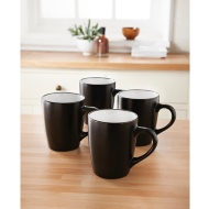 Plain Mugs 4pk - Black