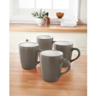 Plain Mugs 4pk - Taupe