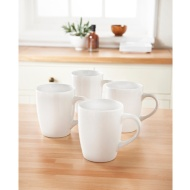Plain Mugs 4pk - White
