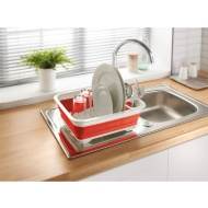 Collapsible Dish Drainer - Red