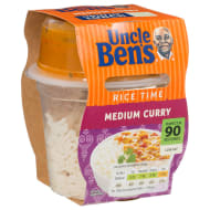 Uncle Ben's Rice Time Medium Curry 300g