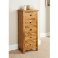 Wiltshire 5 Drawer Chest Tall