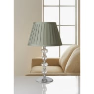 Georgia Glass Ball Table Lamp - Silver