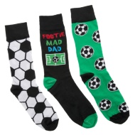 Father's Day Mens Socks - Footie Mad Dad