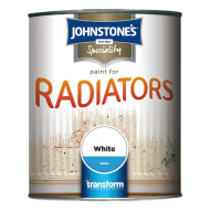 Johnstone's Paint For Radiators - White Satin 750ml