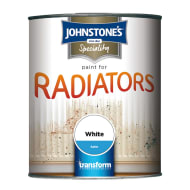 Johnstone's Paint For Radiators - White Satin 250ml