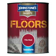 Johnstone's Paint For Garage Floors - Tile Red 750ml