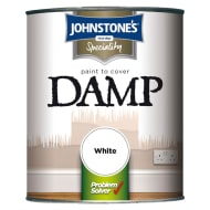 Johnstone's Paint to Cover Damp - White 750ml