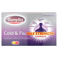 Benylin Cold & Flu Max Strength Capsules 16pk