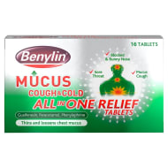 Benylin Cough & Cold All in One Tablets 16pk