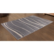 Carved Silver Wave Rug 110 x 160cm