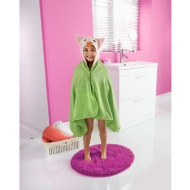 Kids Hooded Beach & Bath Robe - Owl
