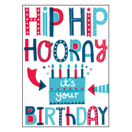 Hip Hip Hooray Birthday Card