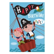 Pirates Birthday Card