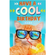 Cool Cat - Birthday Card
