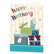 Parcel Stack Birthday Card