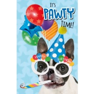 It's Pawty Time Birthday Card