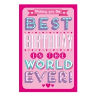 Best Birthday In The World Birthday Card