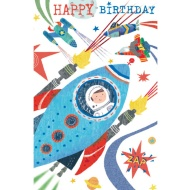 Rocket Ship - Birthday Card