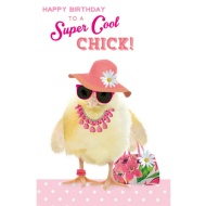 Super Cool Chick - Birthday Card