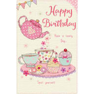 Happy Birthday - Tea Party - Birthday Card