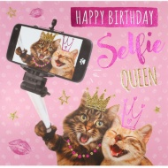 Selfie Queen - Birthday Card