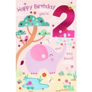 You're 2 - Birthday Card
