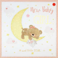 New Baby Girl - New Baby Card