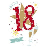 18 Today! - Bubbly - Birthday Card