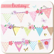 Happy Birthday - Bunting - Birthday Card