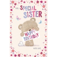 Special Sister - Cute Millie Bear - Birthday Card
