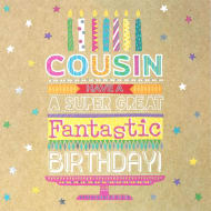 Cousin Cake Birthday Card