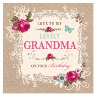 Love to My Lovely Grandma - Birthday Card