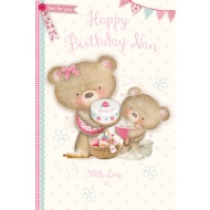 Happy Birthday Nan With Love - Birthday Card