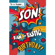 To a Super Son! - Birthday Card