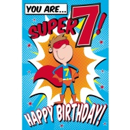 You Are...Super 7! - Birthday Card
