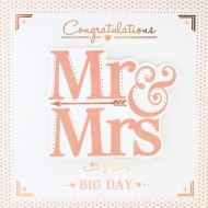 Congratulations Mr & Mrs - Wedding Card