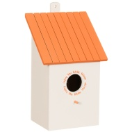 Wooden Bird House - Orange